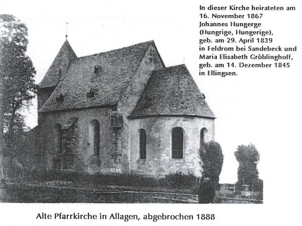 Alte Pfarrkirche in Allagen